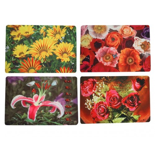 Door Mat Photo Print Flower 3 Asst 45x75cm