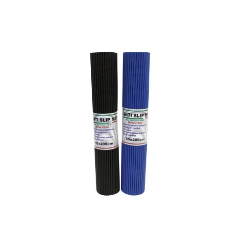 Mat Anti Slip Solid Colours 2mx65cm Black & Blue