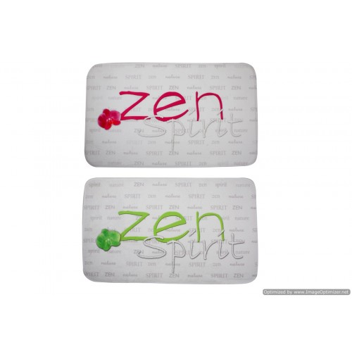 Bath Mat Zen Text Repeat