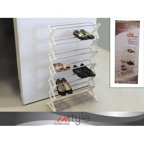 7 Layer Shoe Rack 55x18x96cm Wht Blk