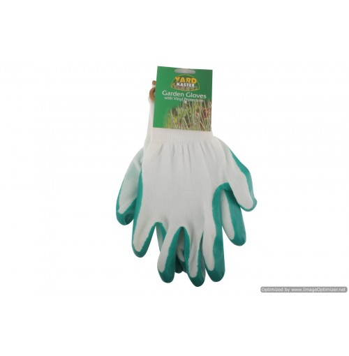 Garden Gloves With Vinyl Protection Osfm Green