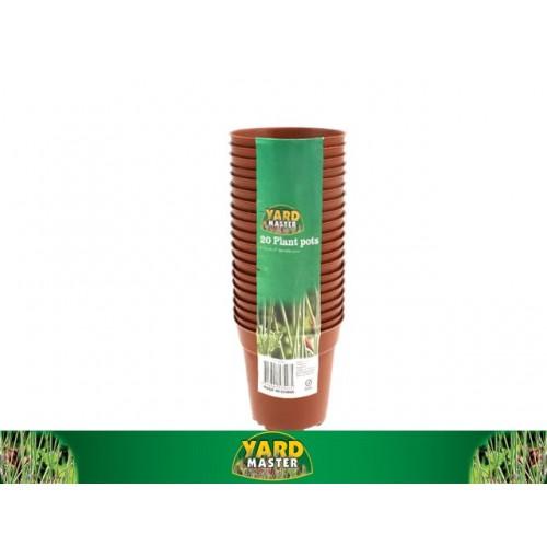 Plastic Plant Pots 7.5cm 15pk
