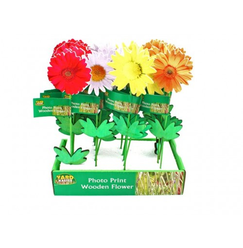 Photo Print Wooden Flowers In Display