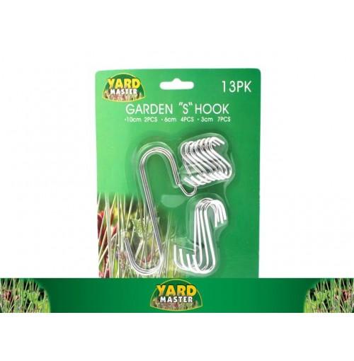 Garden S Shape Hook 13pk 3 Asst Size