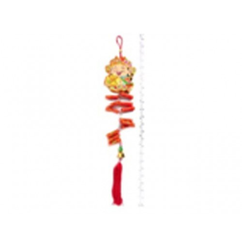 Cny Hanging Decoration God Of Wealth With Firecrackers