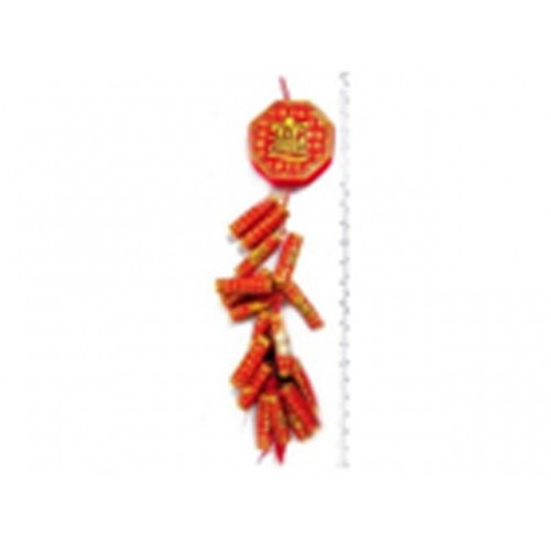 Cny Deco Printed Luck With Firecrackers 85x10cm