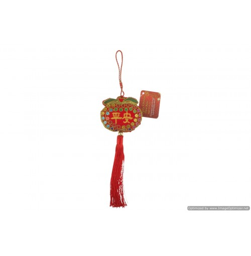 Cny Deco With Printed Luck And Safety Motif 19cm