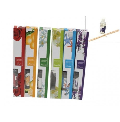 Diffuser W/Reed Sticks 30ml 6 Assorted Scent
