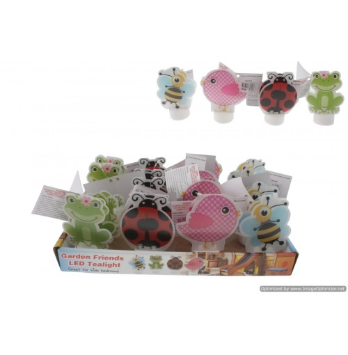 Garden Friends Led Tealight In Pdq