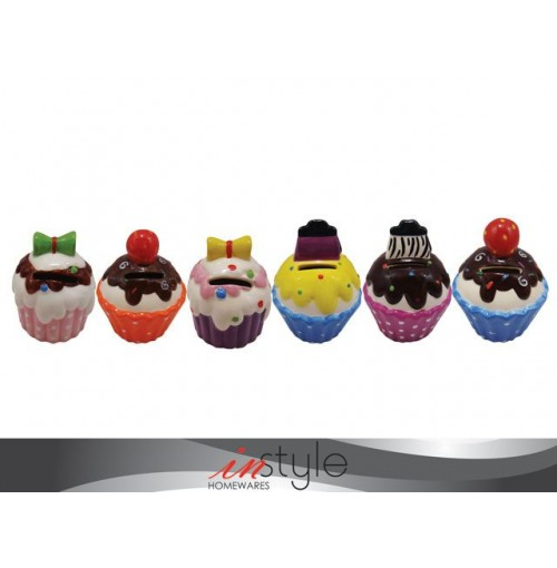 Cup Cake Money Box In Display