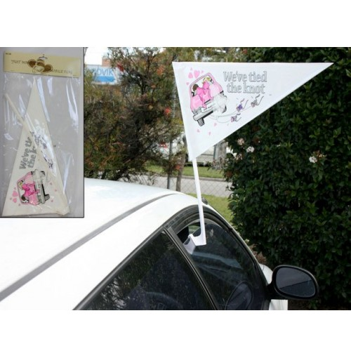 Vehicle Flag Just Married 44cm