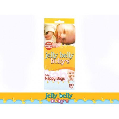 Nappy Bags 100pk W/Easy Tie Handles