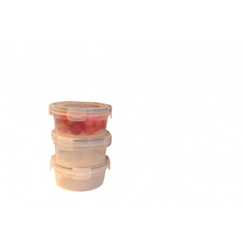 Mini Clip Lock Containers 3 Pack 2 Assorted