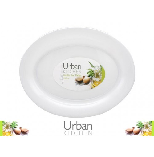 Platter Durable White 39.5cm
