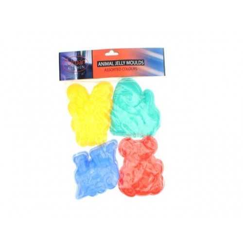Set 3 Animal Jelly Mould Bright Colours