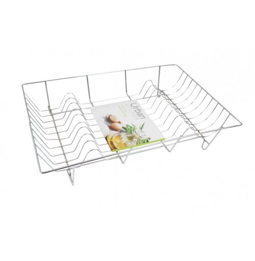 Dish Rack Heavy Duty Chrome 48 X 32 X 10cm