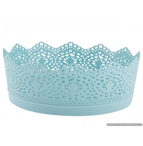 Storage Basket Lace Design 19x8cm 4 Clrs