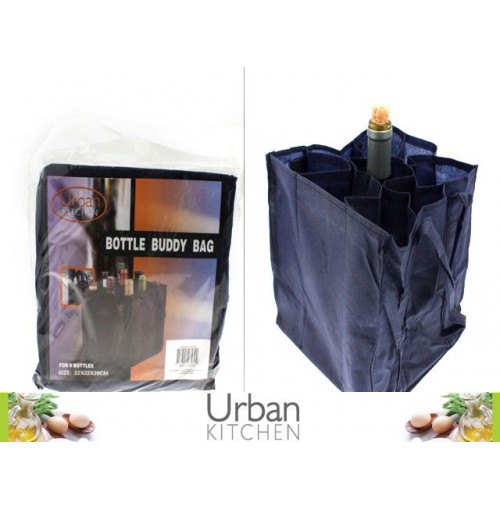 Bottle Buddy Bag Holds 9 Wine Bottles 22x22x28cm