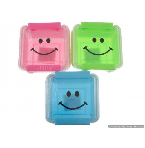 Lunch Snack Box Clear Lid Sq