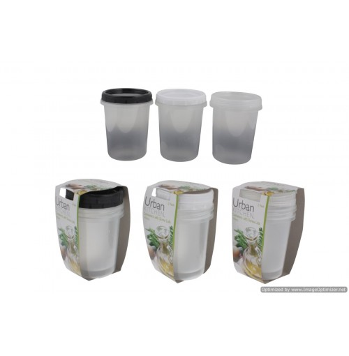 2pc Container With Screw Lid 450ml