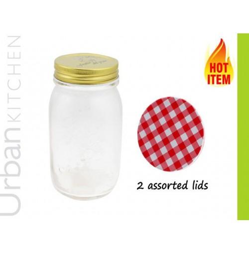 Glass Preserving Jar Lids 7.9x1.7x13cm 500ml