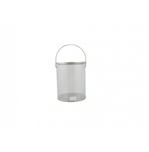 Clear Bucket W/Lid And Handle 1.6l 16.5x11cm
