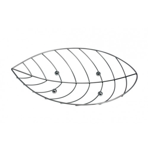 Fruit Bowl Leaf Chrome Metal