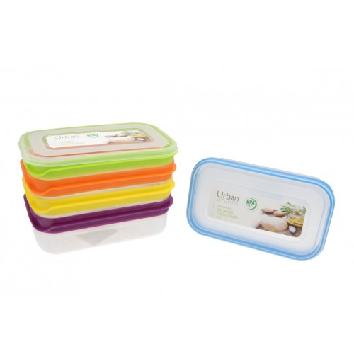Stripe Rect Storage 900ml Container Bpa Free