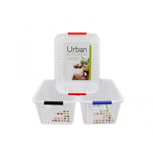 Plastic Mesh Storage Baskets 16.5x23x12cm