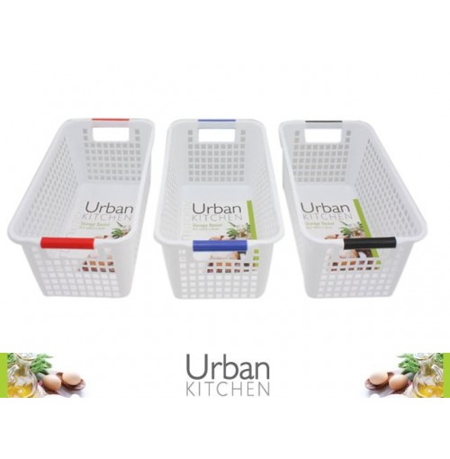 Plastic Mesh Storage Baskets 16.5x30.5x12cm