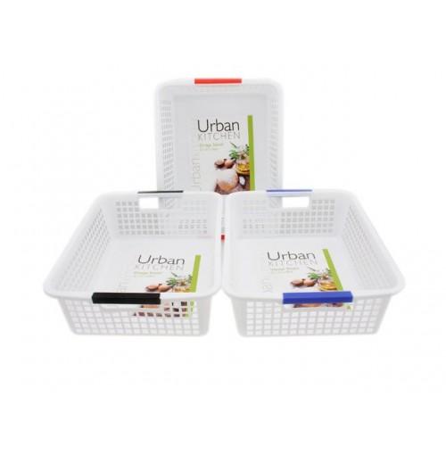 Plastic Mesh Storage Baskets 32x23x10cm