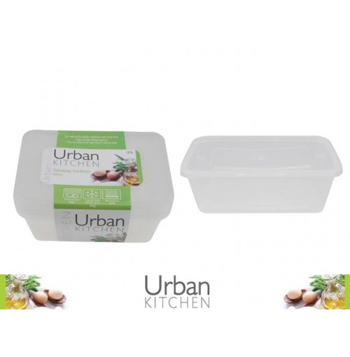 Take Away Container 650ml 4pk 175 X 122 X 49mm