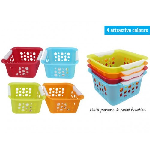 Square Basket Dotted 20.5x20.5x9.5cm A/C Kw4758
