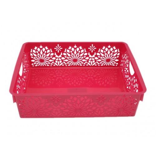 Storage Basket Flower Design 34.5x24.5x8.5cm