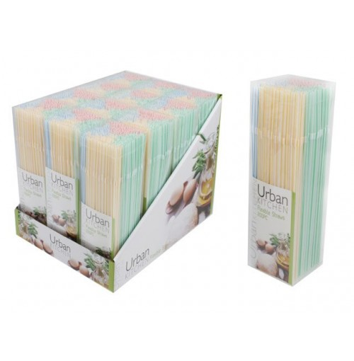 Straws Flexible 200pc In Box