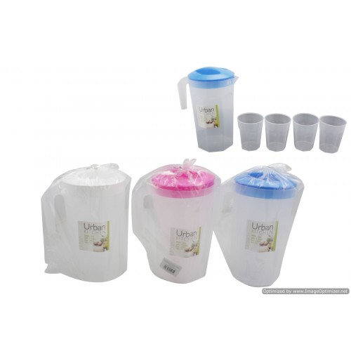 Water Jug With 4pcs Cup
