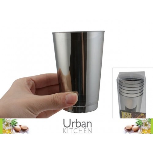 Platinum Plastic Tumbler 6pc 10x7.5cm Acetate Box 275ml