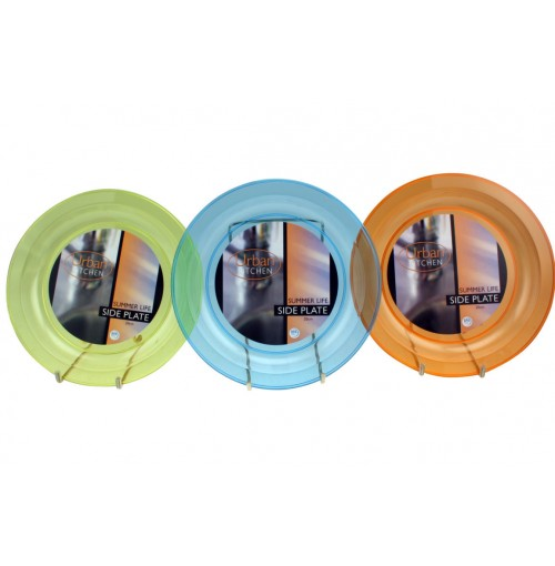 Summer Life Side Plate 20cm 3 Assorted