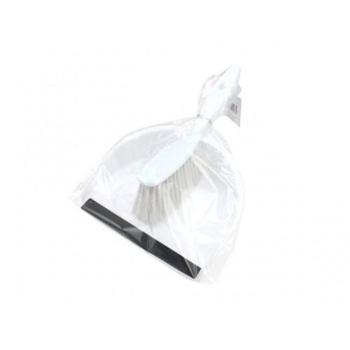 Dust Pan & Brush W/Rubber Lip