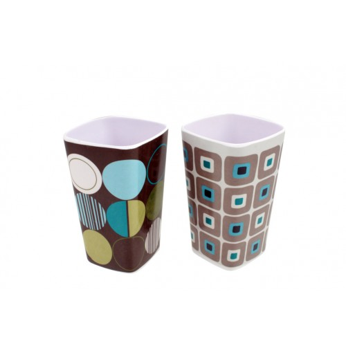 Retro Shapes Tumbler Square  8x12cm 2 Assorted