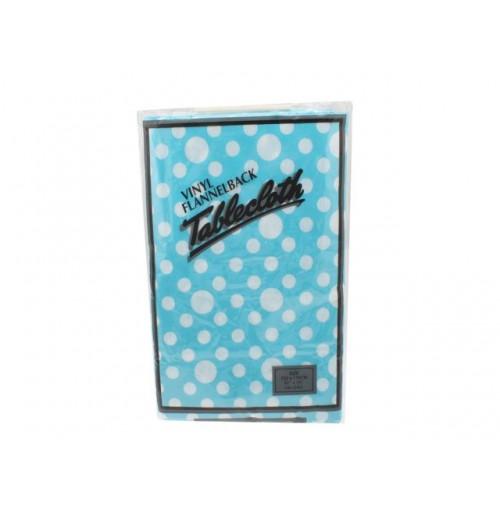 Tablecloth Vinyl Flannel Back 132x182cm Polka Dot