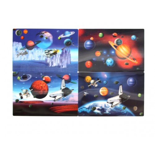 Lenticular Placemats Space Ships