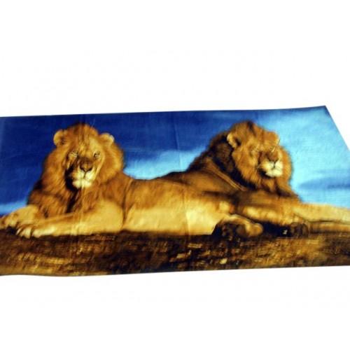 Printed Beach Towels Lions 90x165cm