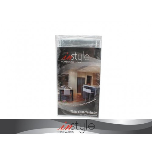 Table Cloth Protector Clear 152 X 274cm Plastic