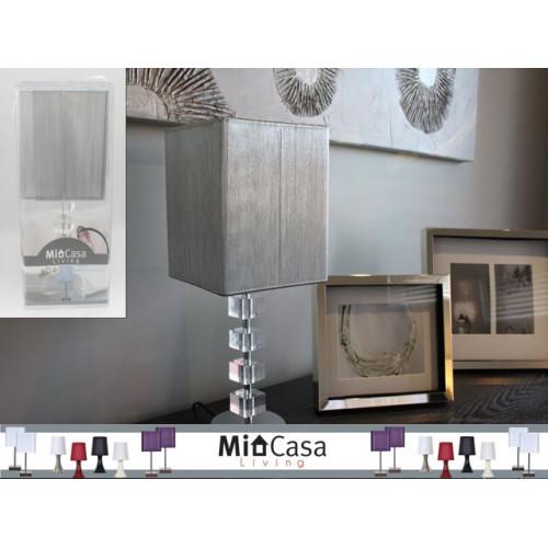 Metal Acrylic Lamp 40x18x18cm W/Slv String Shade