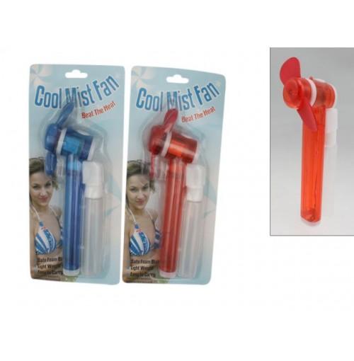 Cool Mist Fan W/Water Dispense Clrs Blue/Red
