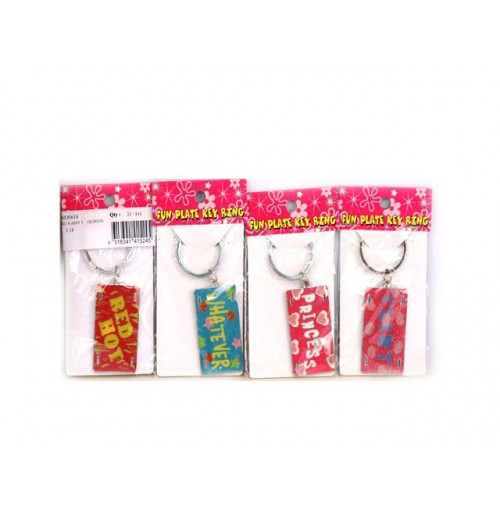 Fun Plate Key Ring 5x2cm