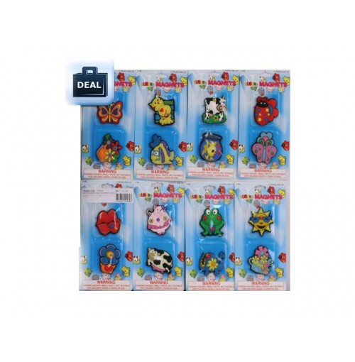Magnets Happy Friends Rubber 2pk