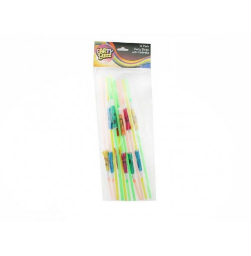 Party Straws W/Umbrella 12pk
