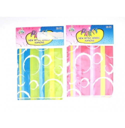 Retro Series Napkins 12pcs